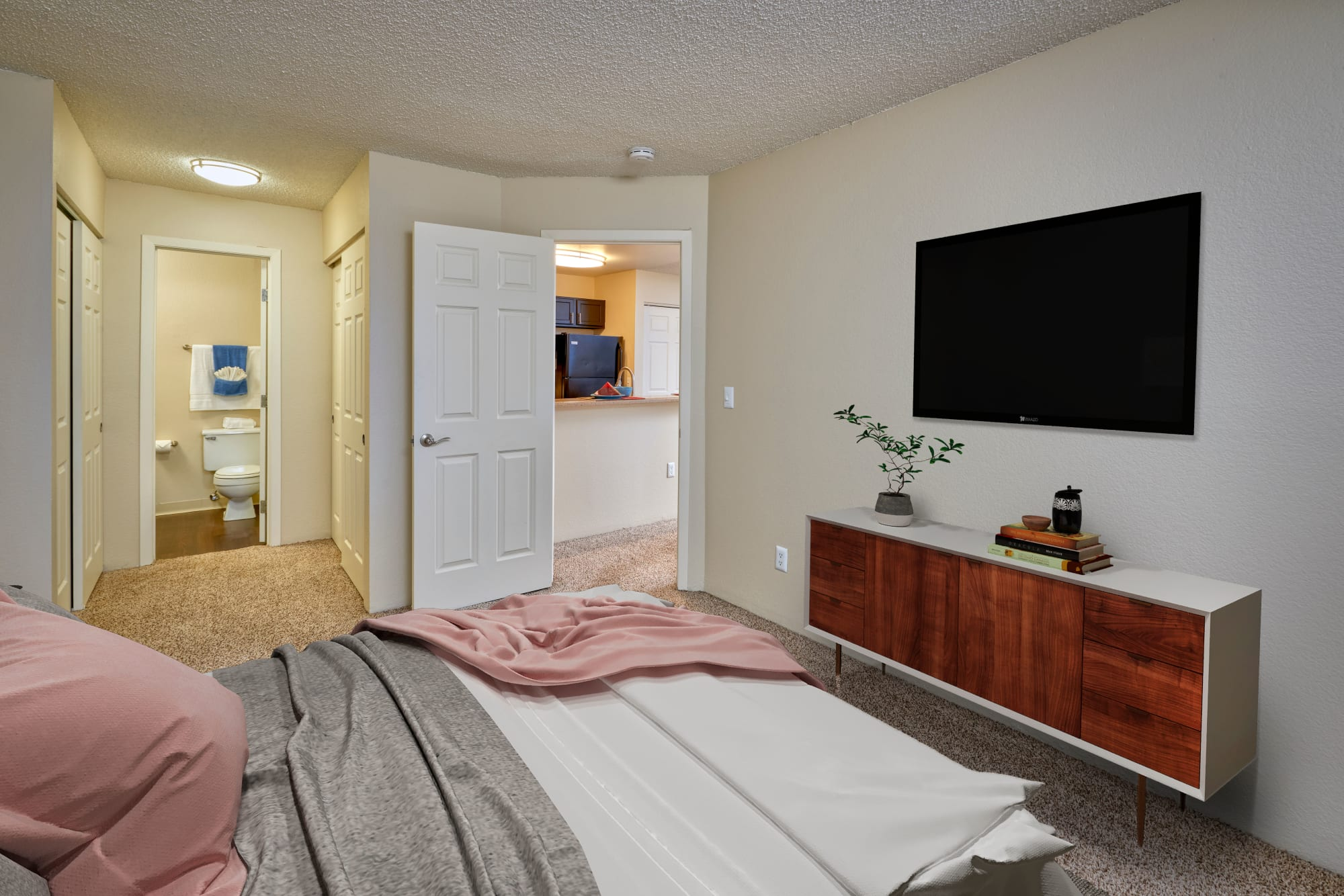 Master Bedroom at Bluesky Landing Apartments in Lakewood, Colorado