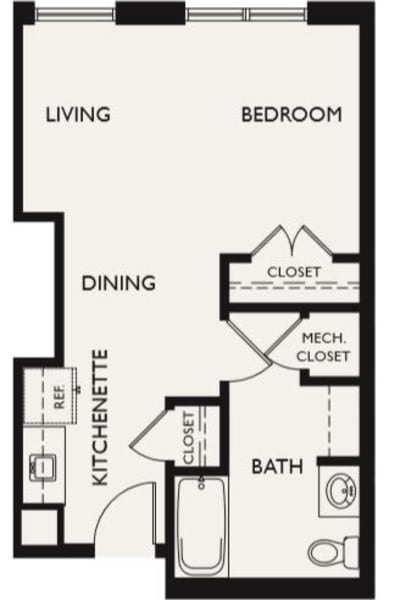 Plan F floor plans at The Inn at Greenwood Village in Greenwood Village, Colorado