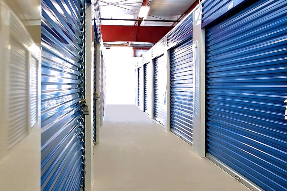 Hallway of units at Prime Storage in Cinnaminson, New Jersey