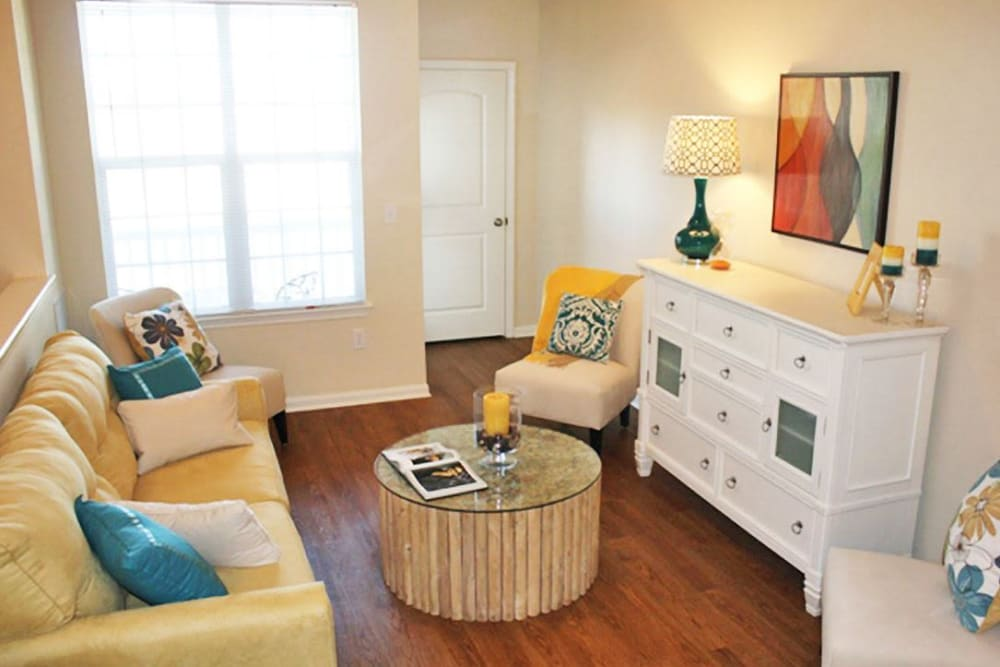 Living Room at  Springs at Bettendorf in Bettendorf