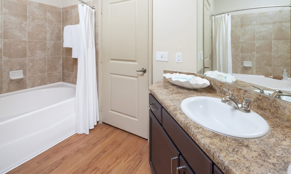 Spacious bathroom at apartments in Clermont, Florida