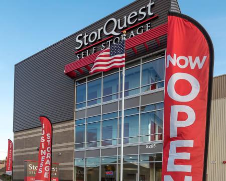 Front of building at StorQuest Self Storage in Redmond, Washington