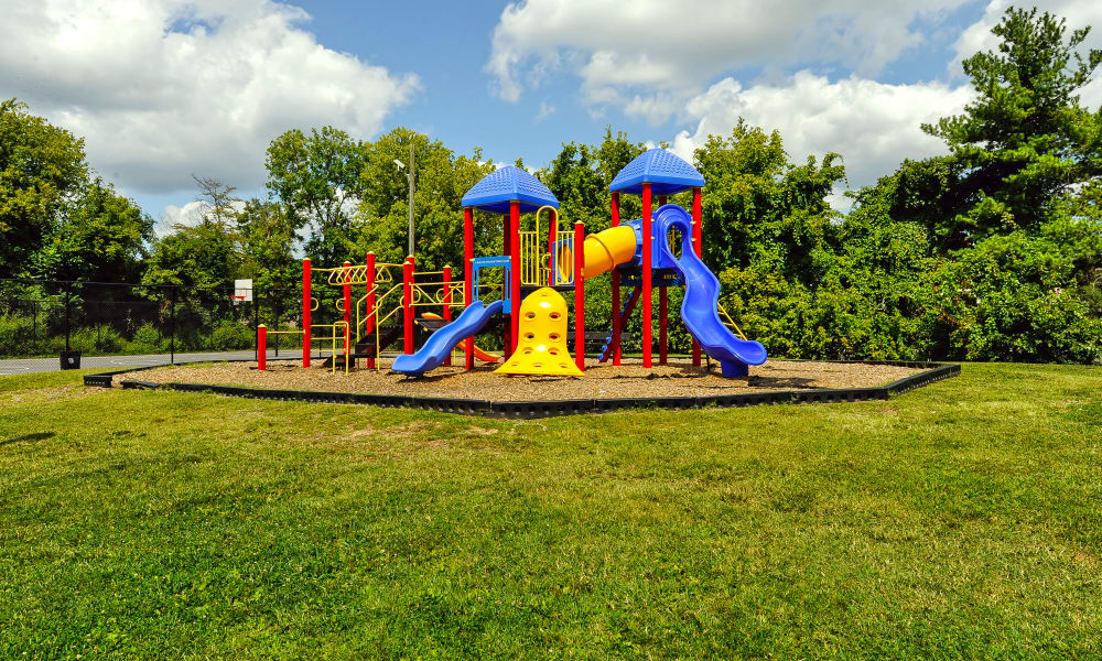 A colorful playground at Northwest Crossing Apartment Homes
