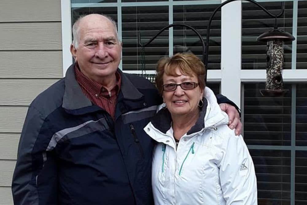 A happy couple at Harrison Springs Health Campus in Corydon, Indiana