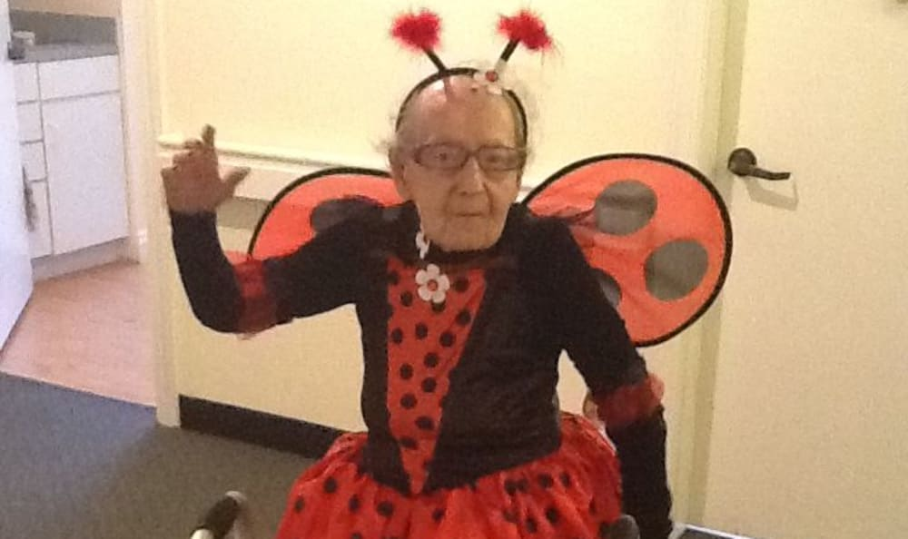 Senior dressed as a ladybug at Savannah Grand of Maitland
