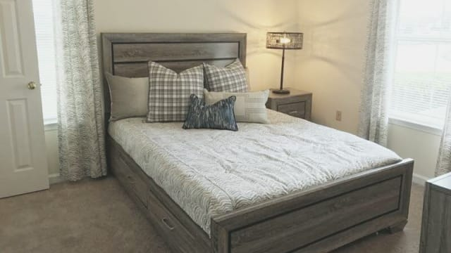 Guest bedroom at Peppertree in Montgomery, AL