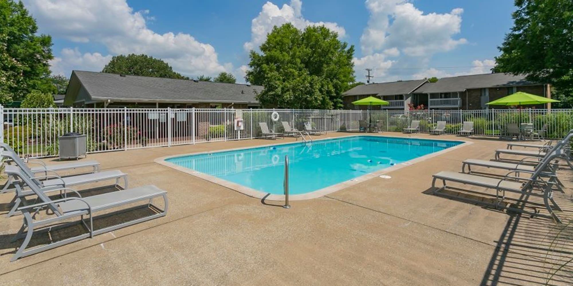 The pool at Magnolia Place Apartments in Franklin, TN