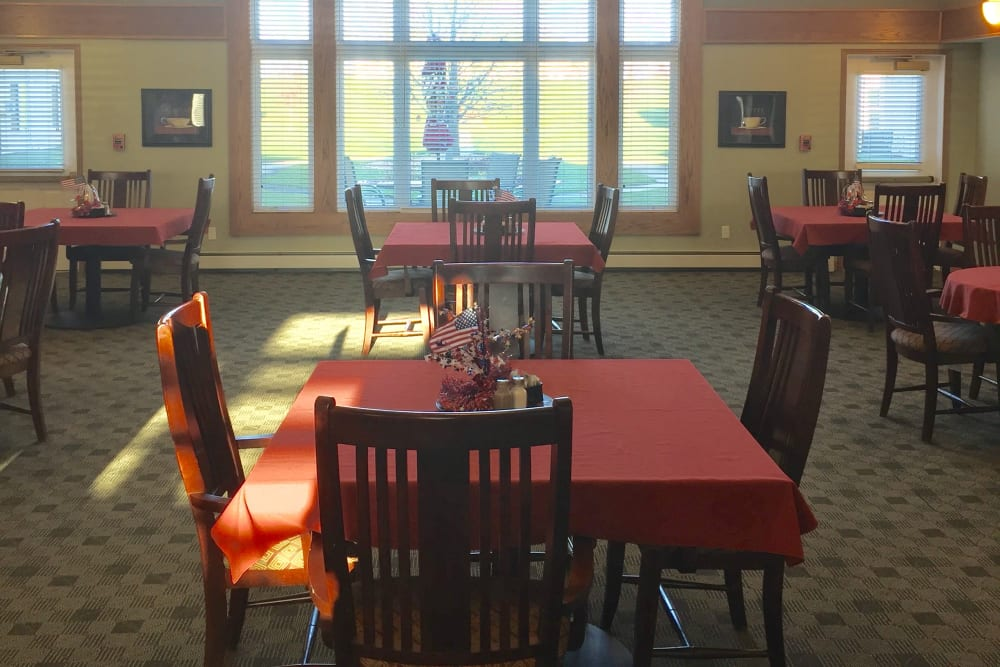 Dining area at Meadow Ridge Senior Living