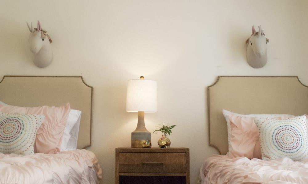 A kids bedroom at The Chimneys Apartments in El Paso, Texas