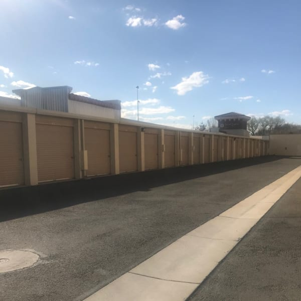 Climate controlled drive-up units at StorQuest Self Storage in Reno, Nevada