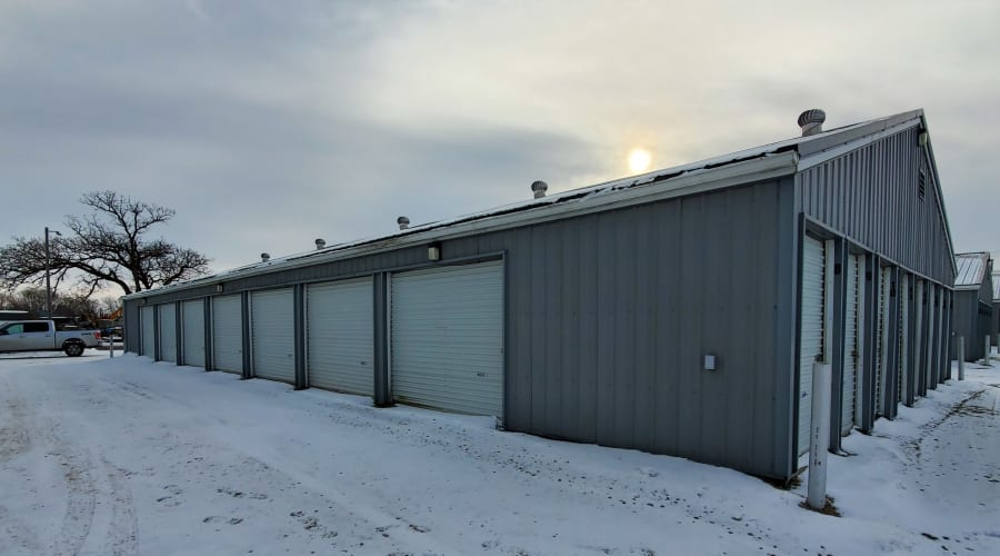 Exterior of outdoor units at KO Storage of Waseca 5th St in Waseca, Minnesota