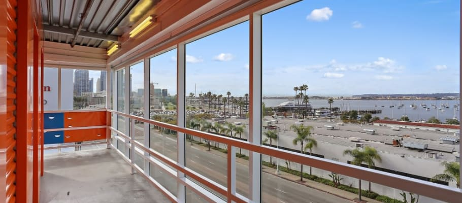 View of the ocean from our building at A-1 Self Storage in San Diego, California