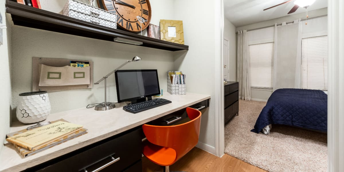 In-home office at Marquis at the Reserve in Katy, Texas