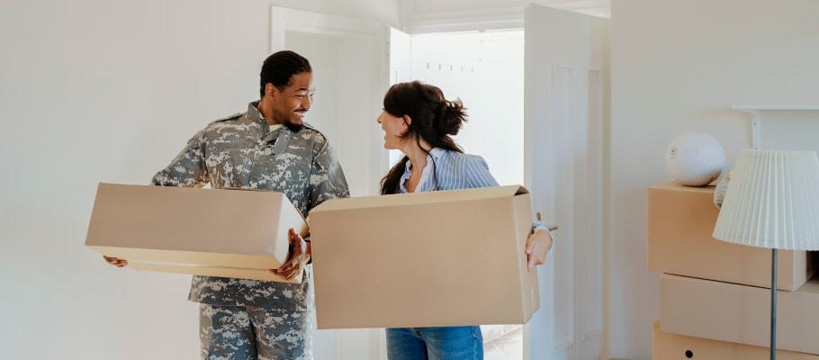 A couple moves into their new home in El Cajon, California