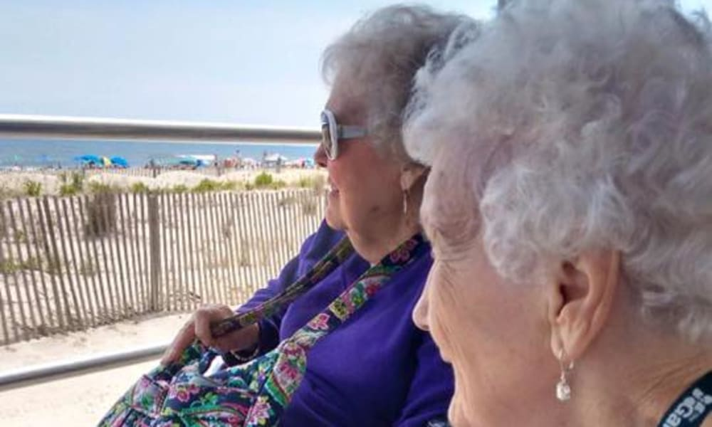 Two resident at the beach near Traditions of Cross Keys in Glassboro, New Jersey