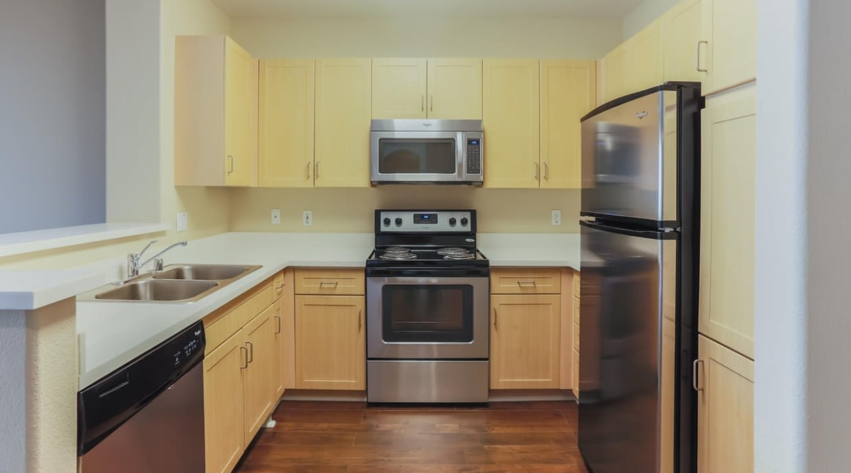 Modern and well-equipped kitchen at Park Central in Concord, California