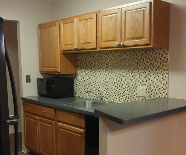 Kitchen at Triad Apartments