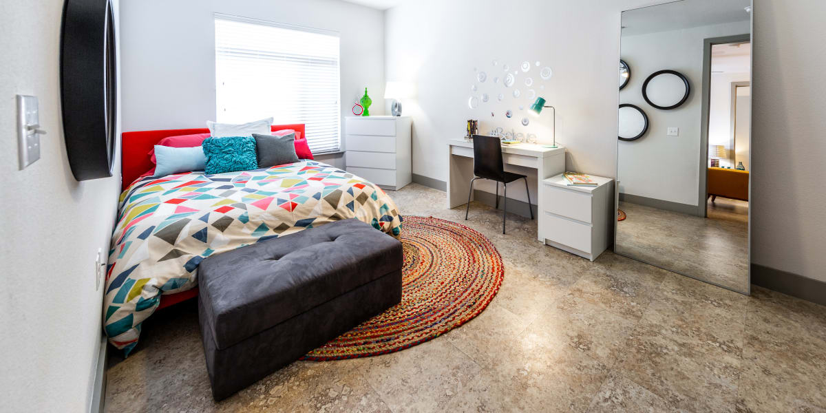 Bedroom at Regents West at 24th in Austin, Texas