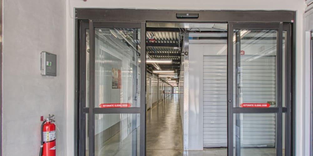 Door entrance to indoor storage at Devon Self Storage in Pearland, Texas