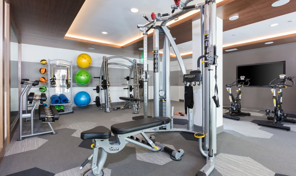 Fitness center at Aster