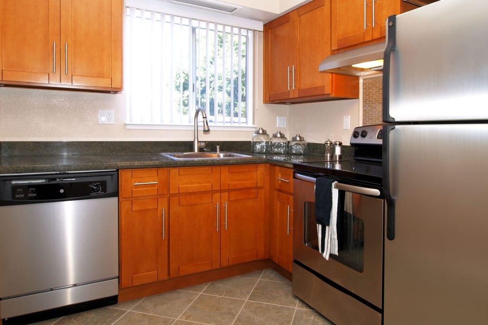 Apartment kitchen at Spring Lake Apartment Homes in Santa Rosa, California