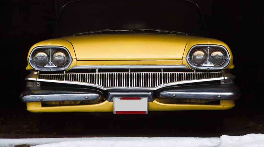 A classic car stored at KO Storage of Billings – 62nd in Billings, Montana