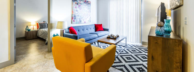 Living room at Regents West at 24th in Austin, Texas