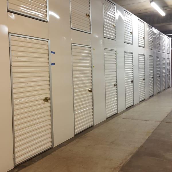 Well lit storage lockers at StorQuest Self Storage in Honolulu, Hawaii