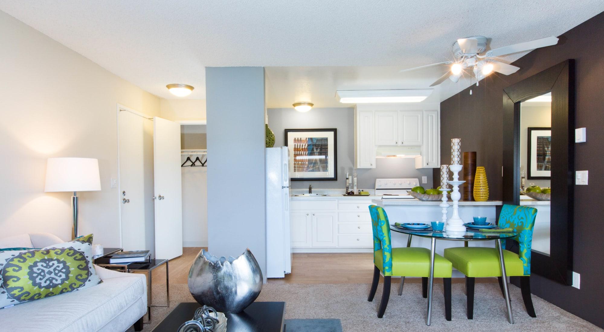 Floor plans at The Landmark Apartment Homes in Sunnyvale, California