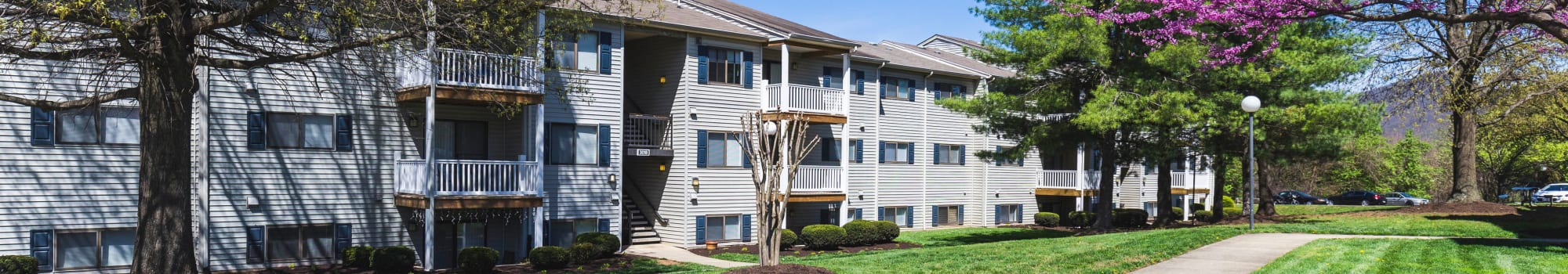 Floor plans at Hickory Woods Apartments in Roanoke, Virginia