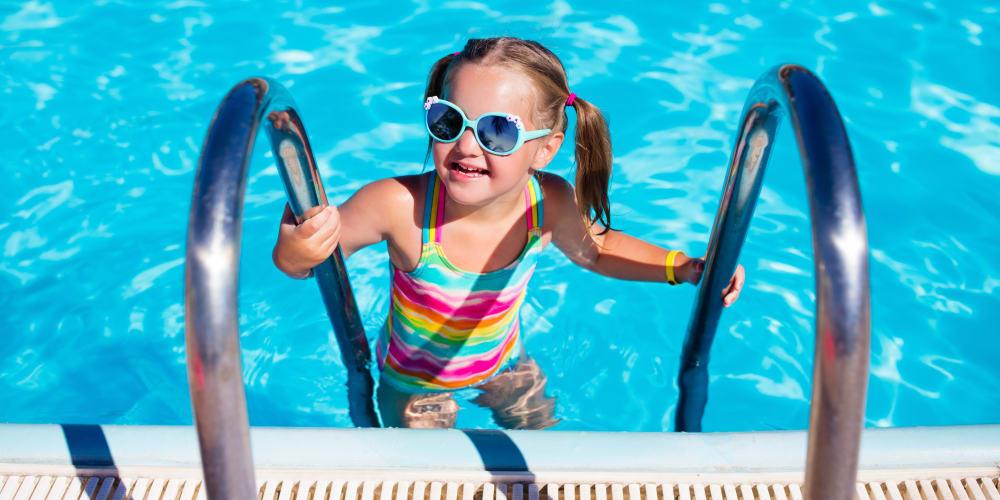 Girl enjoying the pool at Chapel Ridge in Norman, Oklahoma