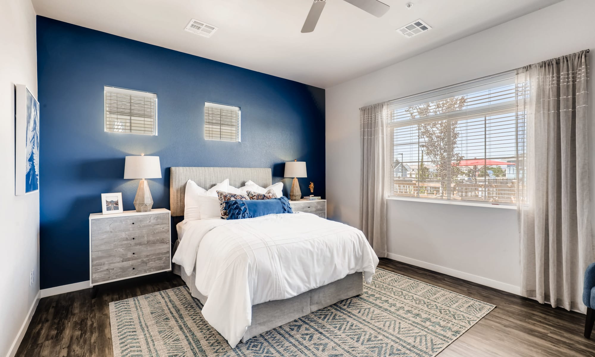 Accent wall in master bedroom at Avilla Buffalo Run in Commerce City, Colorado