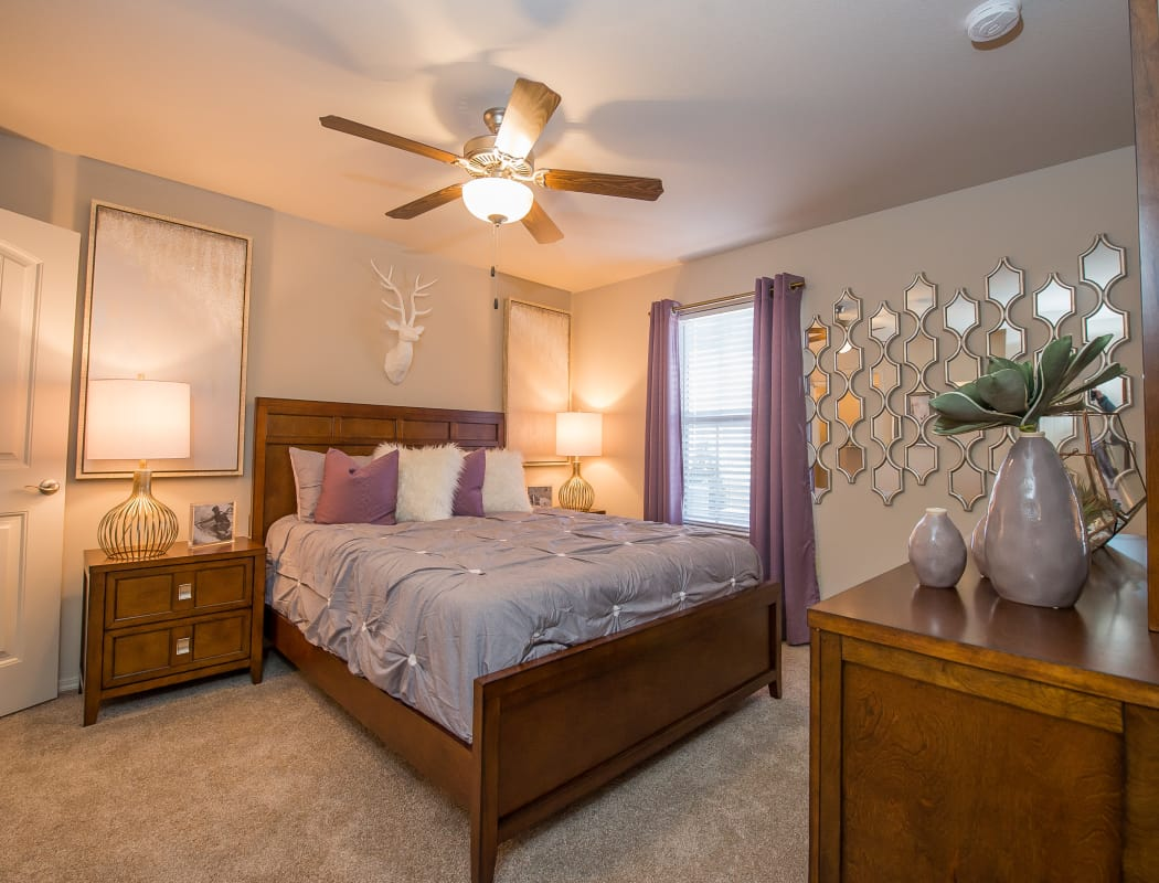 Master bedroom at Cedar Ridge Apartments in Broken Arrow, Oklahoma