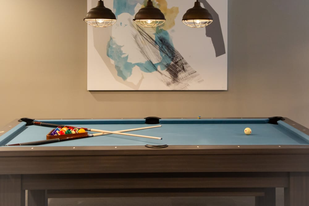 Pool table in the game room at 511 Meeting in Charleston, South Carolina