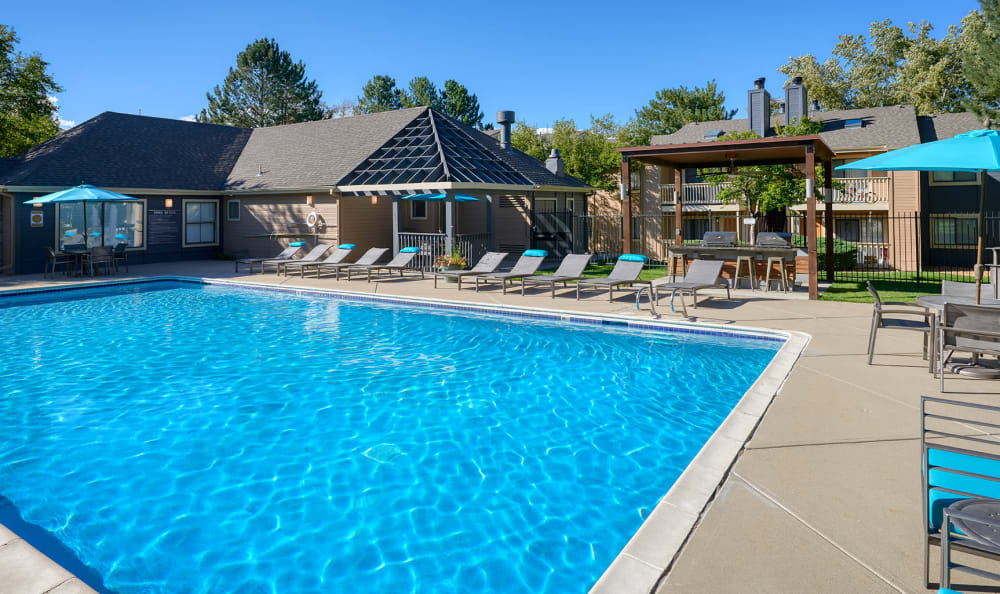 Swimming Pool at City Center Station Apartments in Aurora, Colorado
