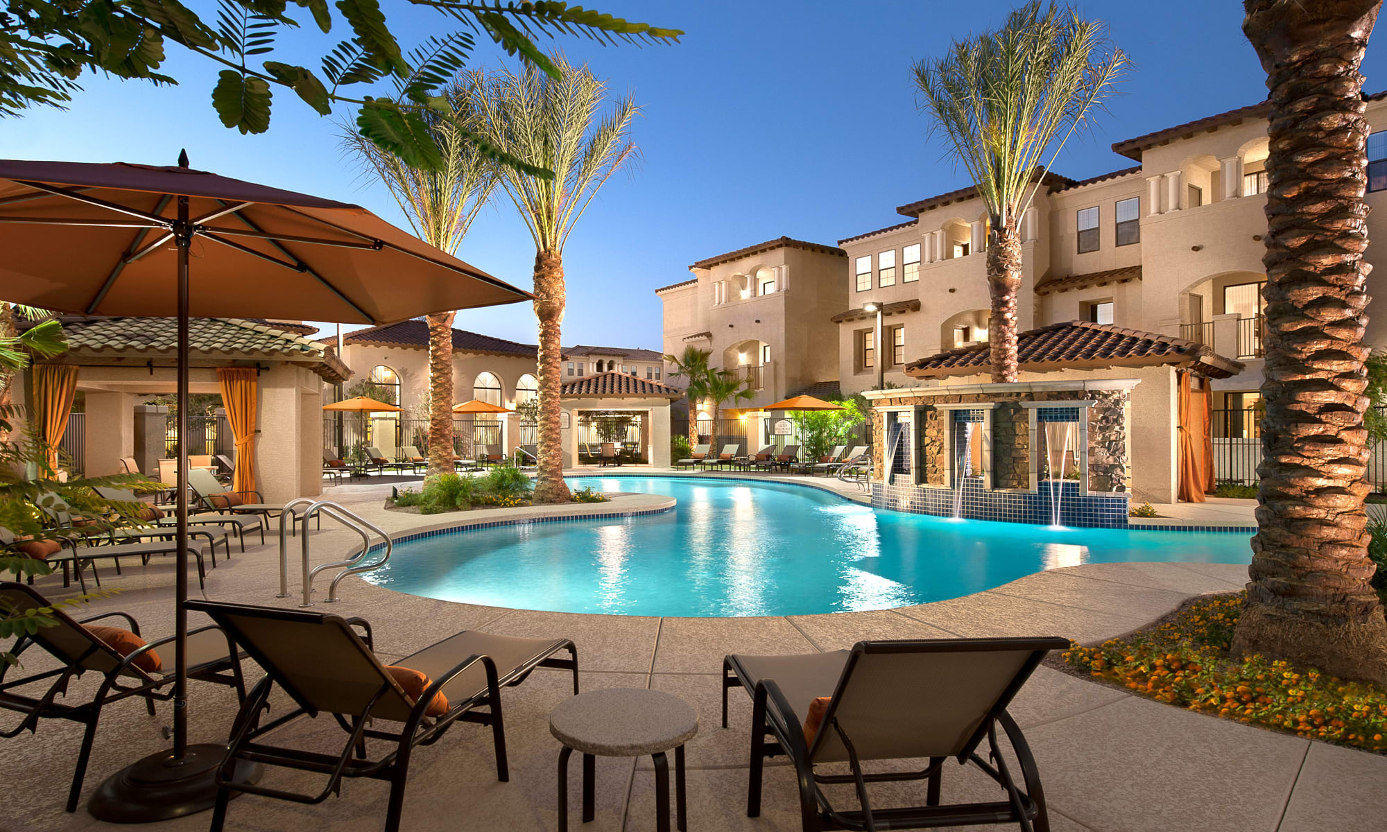 San Marquis apartments with an outdoor pool, in Tempe, Arizona