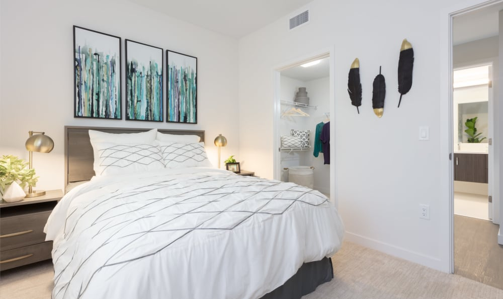 Comfortable bedroom in our Dublin, CA apartments
