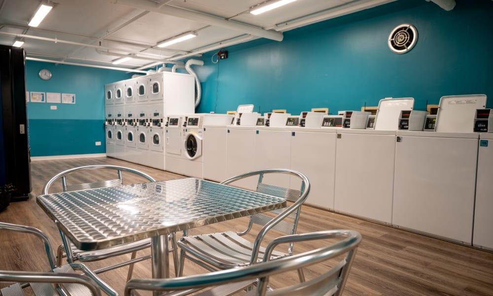 Onsite laundry center at Mandalane Apartments in Wheeling, Illinois