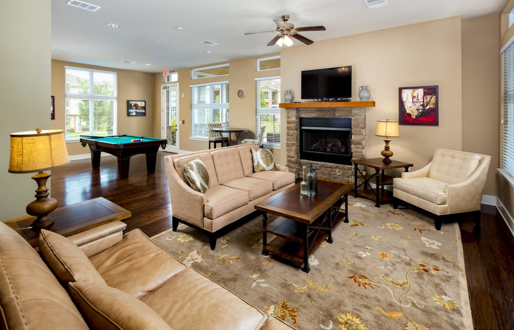 Beautifully decorated model unit at The Preserve at Hardin Valley in Knoxville, Tennessee