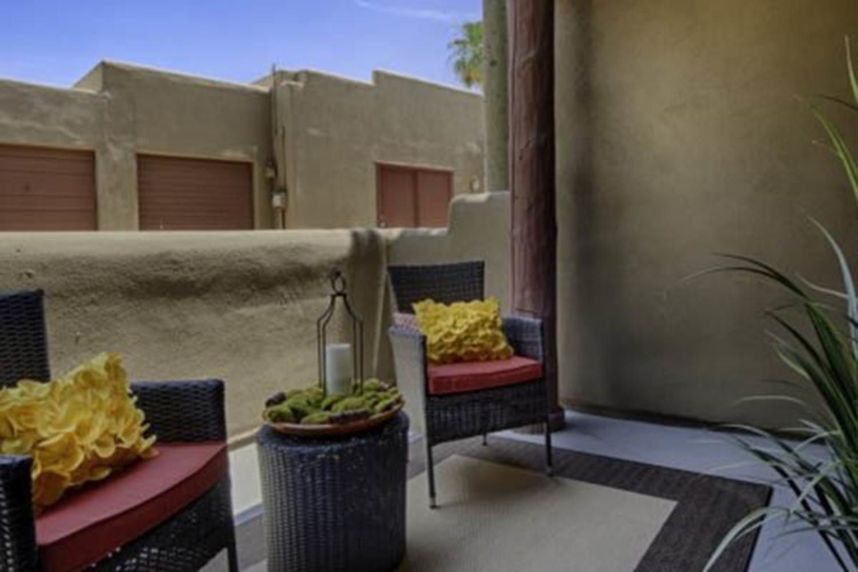 Enjoy a balcony at Casa Santa Fe Apartments in Scottsdale, Arizona