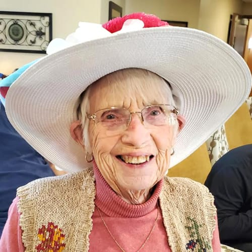 Lovely resident at The Oxford Grand Assisted Living & Memory Care in Kansas City, Missouri