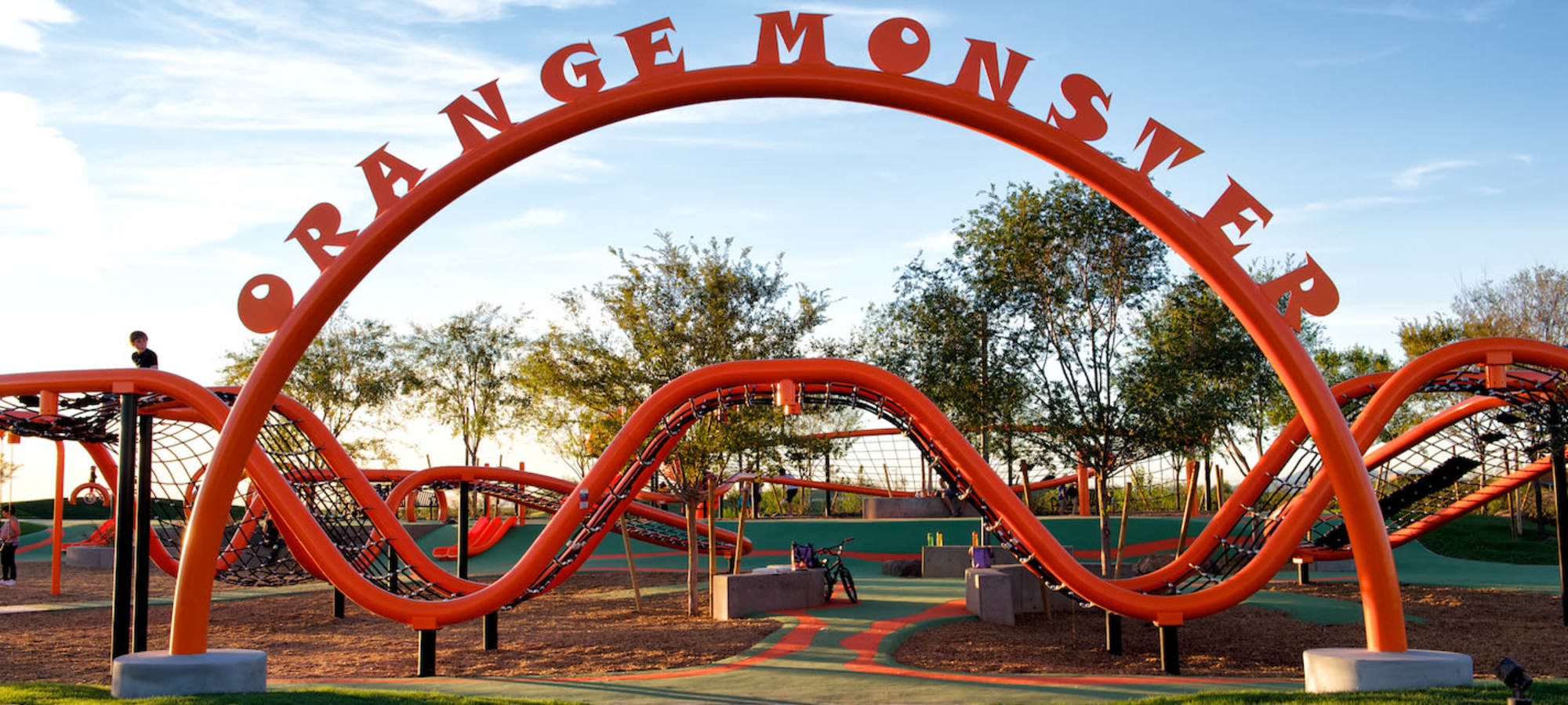Large children's playground at BB Living at Eastmark in Mesa, Arizona