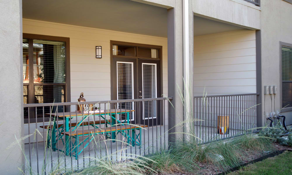 Patio or balconies available at Savannah Oaks in San Antonio, Texas