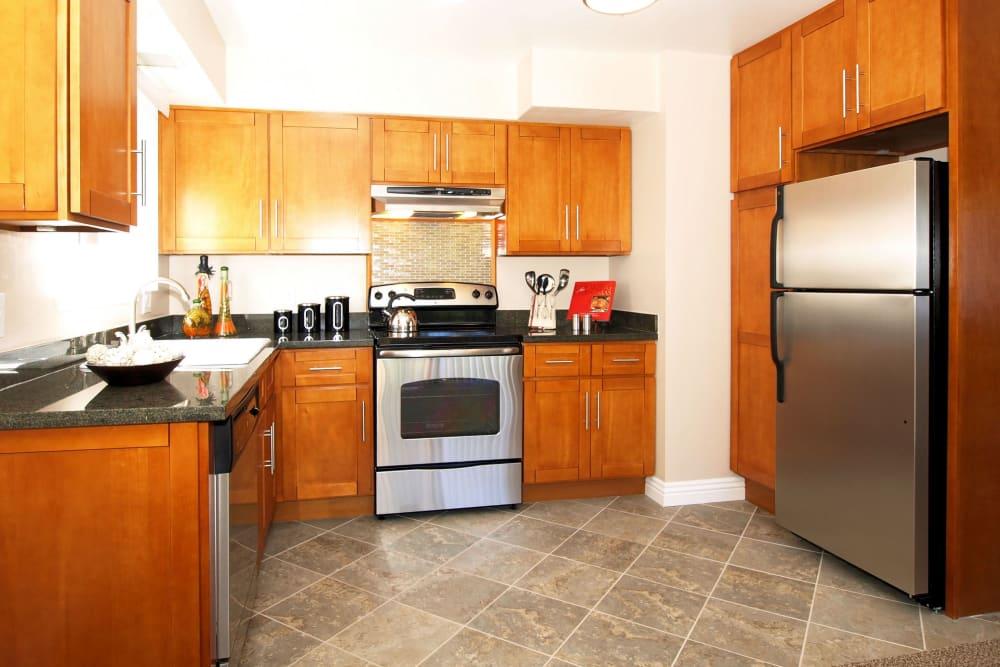 Open-concept kitchen at Spring Lake Apartment Homes in Santa Rosa, California