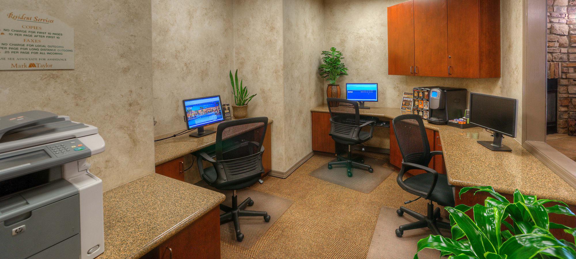 Business center at San Prado in Glendale, Arizona