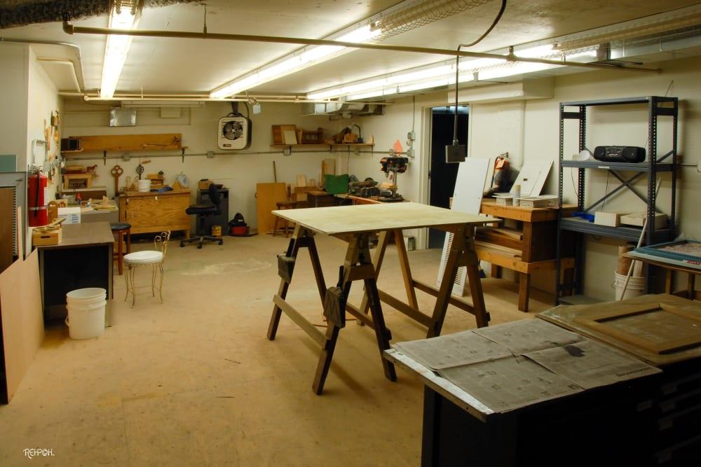 Wood shop at The Glenn Hopkins
