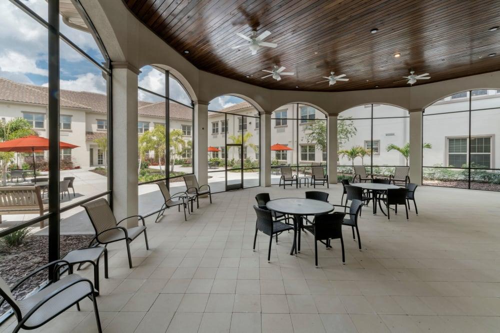 Sun room at Merrill Gardens at ChampionsGate in ChampionsGate, Florida.