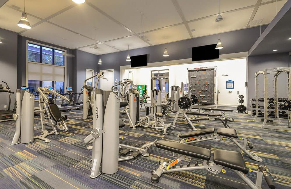 Fully equipped fitness center at Cabana Club and Galleria Club in Jacksonville, Florida