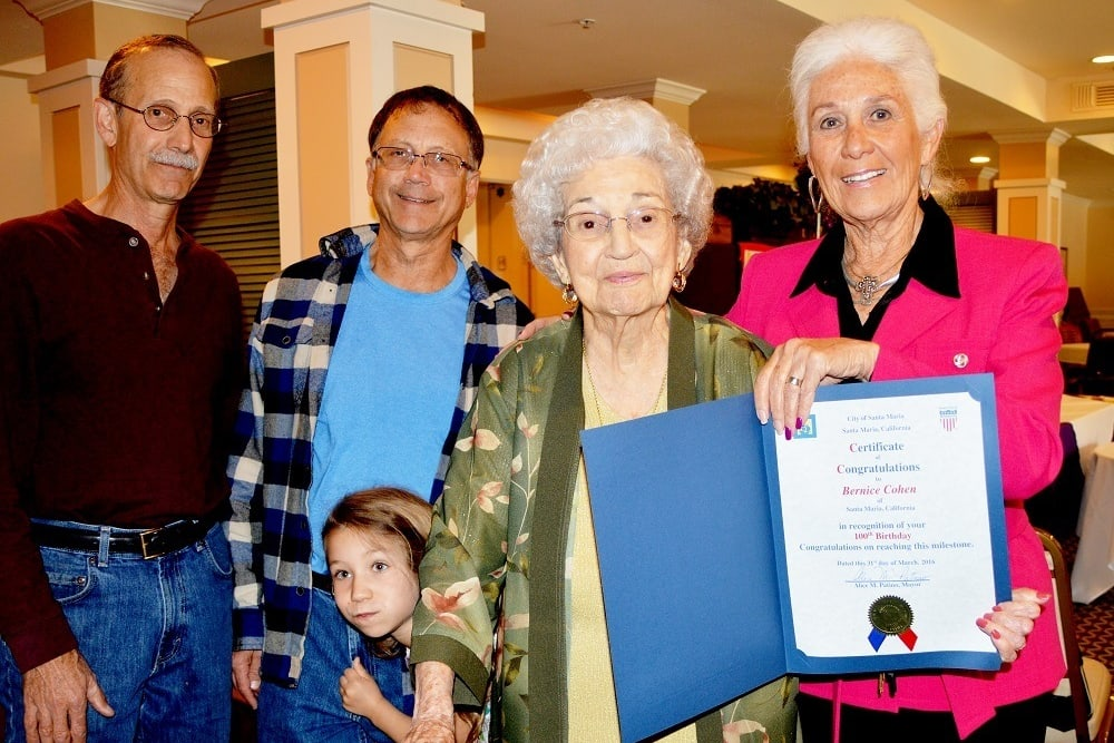 Celebrating Resident's 100th Birthday at Merrill Gardens at Santa Maria in Santa Maria, California