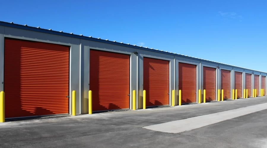 Exterior of outdoor units at KO Storage of Casper in Evansville, Wyoming